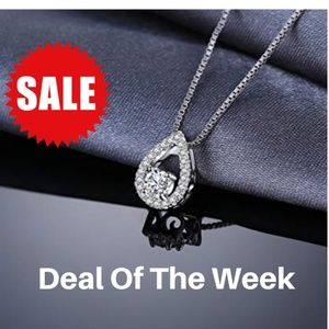 Jewelry - 0.5ct CZ Solitaire Pendant Necklace - 925 Sterling